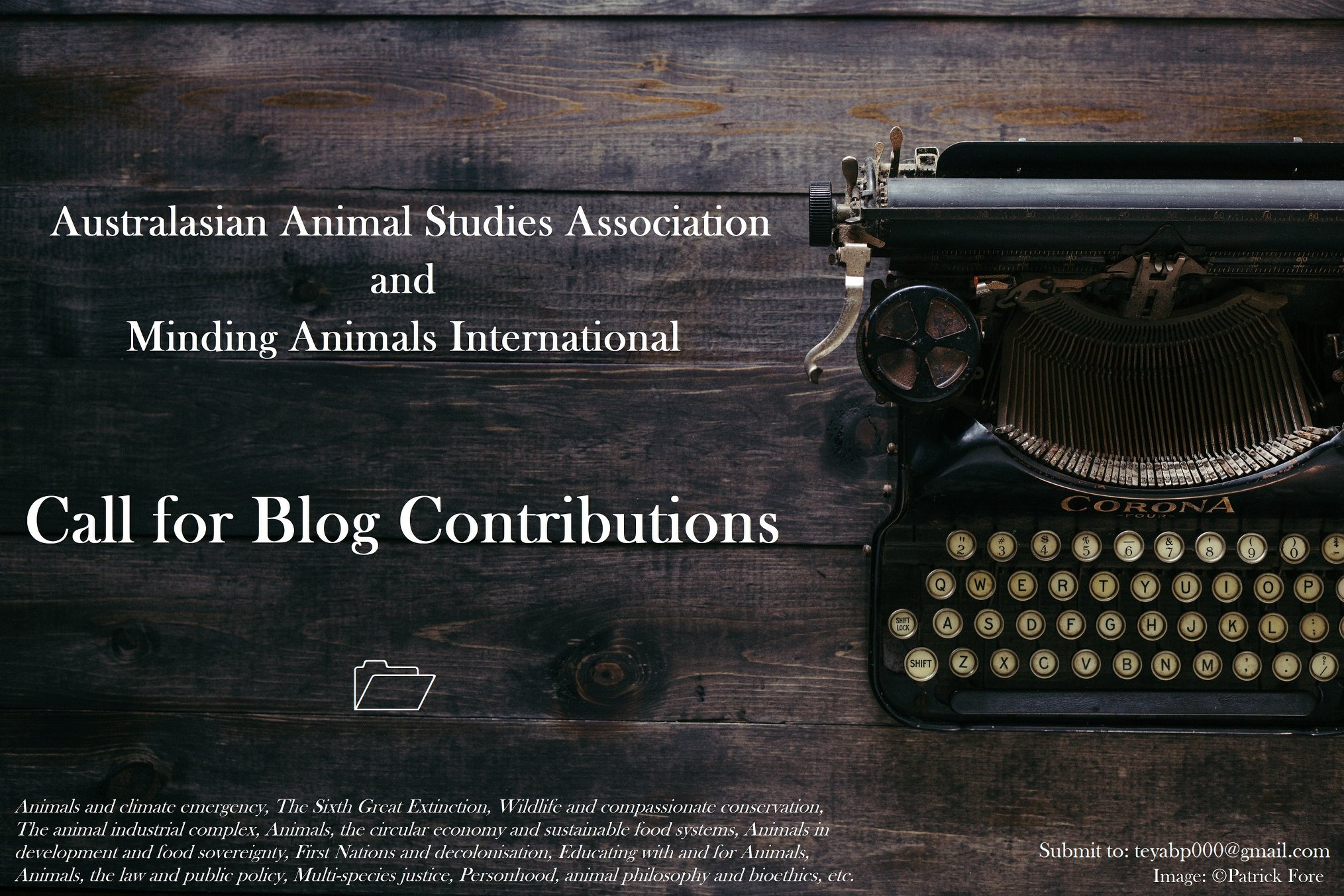 Call for Blog Contributions: AASA/Minding Animals